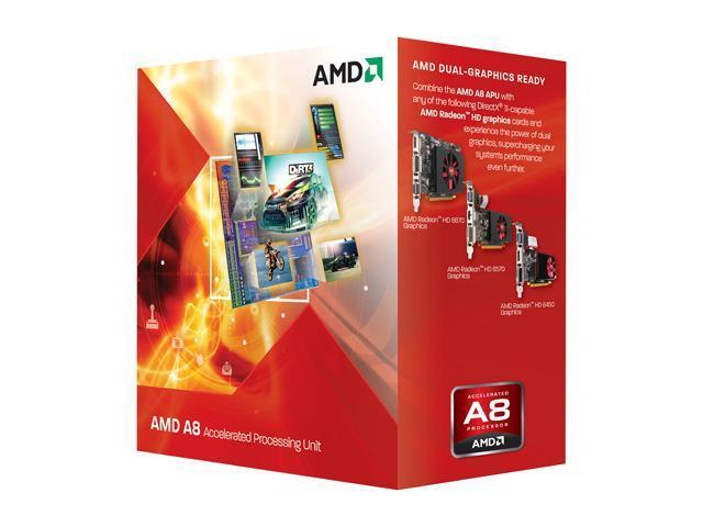AMD A8-3850 Llano Quad-Core 2.9 GHz Socket FM1 100W AD3850WNGXBOX Desktop APU (CPU + GPU) with DirectX 11 Graphic AMD Radeon HD 6550D