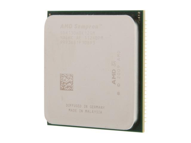 AMD Sempron 130 Sargas Single-Core 2.6 GHz Socket AM3 45W SDX130HBK12GM Desktop Processor