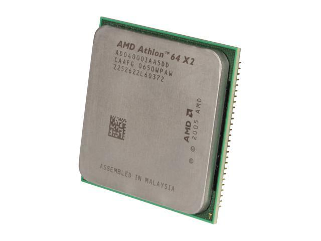 AMD Athlon 64 X2 4000+ Brisbane Dual-Core 2.1 GHz Socket AM2 65W ADO4000IAA5DD Processor