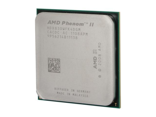 AMD Phenom II X4 830 2.8 GHz Socket AM3 HDX830WFK4DGM Desktop Processor - OEM