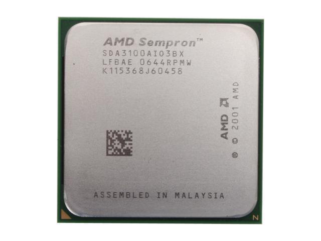 AMD Sempron 64 3100+ 1.8 GHz Socket 754 SDA3100AIO3BX Processor - OEM