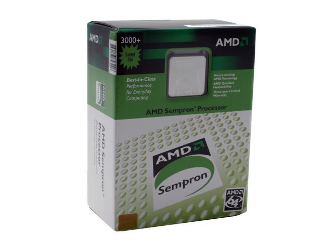 AMD Sempron 64 3000+ Palermo Single-Core 1.8 GHz Socket 754 SDA3000BXBOX Processor
