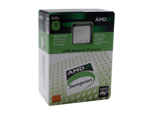 AMD Sempron 64 2600+ Palermo Single-Core 1.6 GHz Socket 754 SDA2600BXBOX Processor