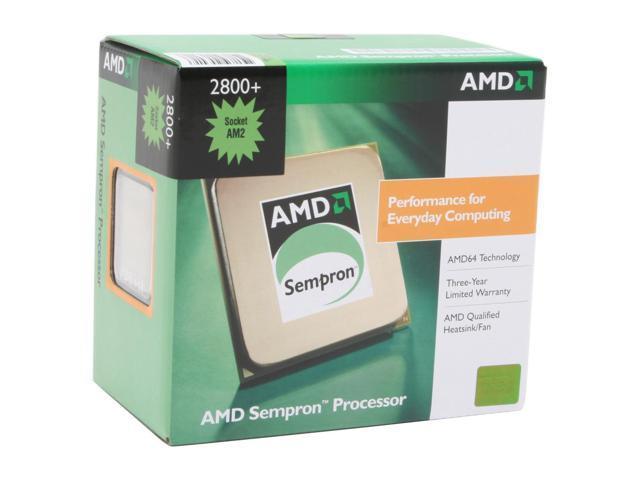 AMD Sempron 64 2800+ Manila Single-Core 1.6 GHz Socket AM2 62W SDA2800CNBOX Processor