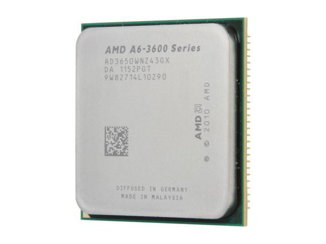 AMD A6-3650 Llano Quad-Core 2.6 GHz Socket FM1 100W AD3650WNZ43GX Desktop APU (CPU + GPU) with DirectX 11 Graphic AMD Radeon HD 6530D
