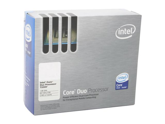 Intel Core Duo T2300 Yonah Dual-Core 1.66 GHz Socket M 31W BX80539T2300 Processor