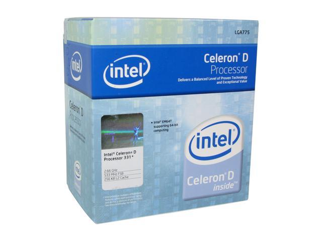 Intel Celeron D 331 Prescott Single-Core 2.66 GHz LGA 775 84W BX80547RE2667CN Processor
