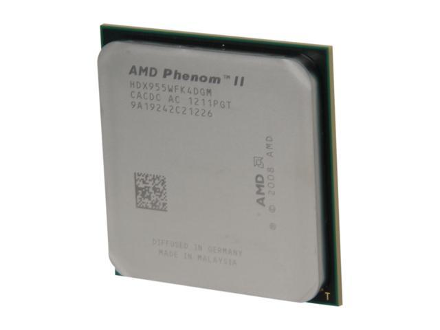 AMD Phenom II X4 955 Deneb Quad-Core 3.2 GHz Socket AM3 95W HDX955WFK4DGM Desktop Processor