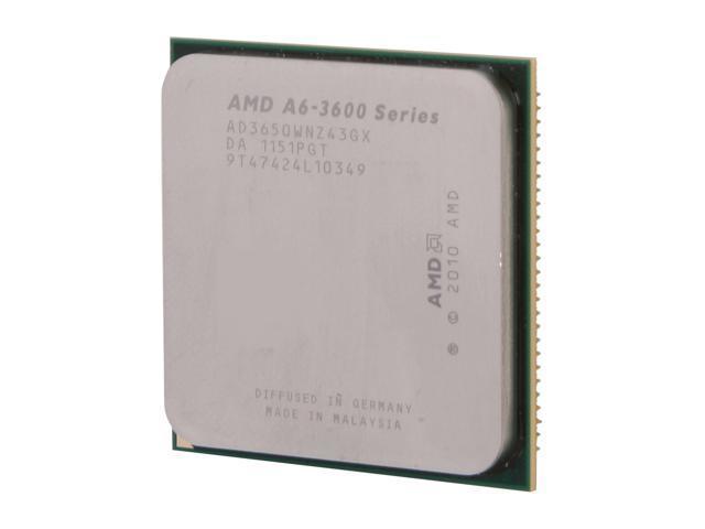 AMD A6-3650 2.6 GHz Socket FM1 AD3650WNZ43GX Desktop APU (CPU + GPU) with DirectX 11 Graphic