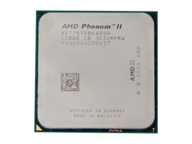 AMD Phenom II X6 1075T 3.0GHz (3.5GHz Turbo Boost) Socket AM3 HDT75TFBK6DGR Desktop Processor
