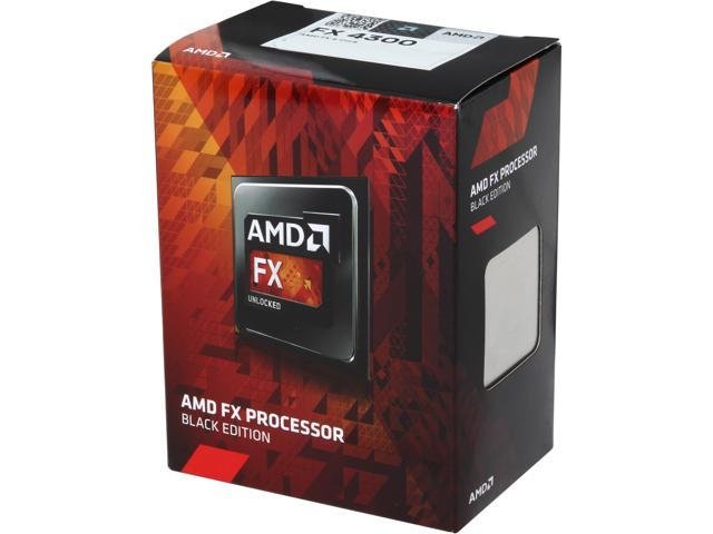 AMD FX-4300 Vishera Quad-Core 3.8GHz (4.0GHz) Socket AM3+ 95W FD4300WMHKBOX Desktop Processor