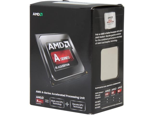 AMD A8-6600K 3.9 GHz Socket FM2 AD660KWOHLBOX Desktop Processor - Black Edition