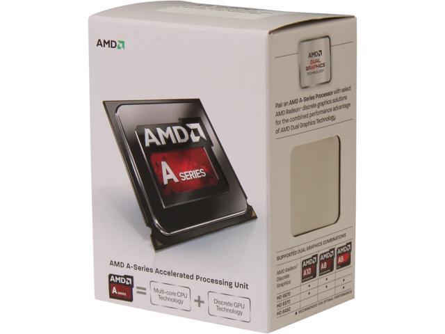 AMD A8-6500 Richland Quad-Core 3.5 GHz Socket FM2 65W AD6500OKHLBOX Desktop Processor AMD Radeon HD