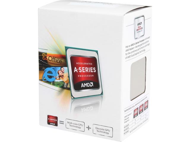 AMD A4-4020 Richland Dual-Core 3.2 GHz Socket FM2 65W AD4020OKHLBOX Desktop Processor AMD Radeon HD7000 Series