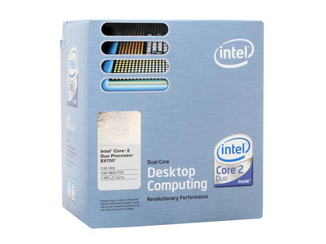 Intel Core 2 Duo E6700 2.66 GHz LGA 775 BX80557E6700 Processor