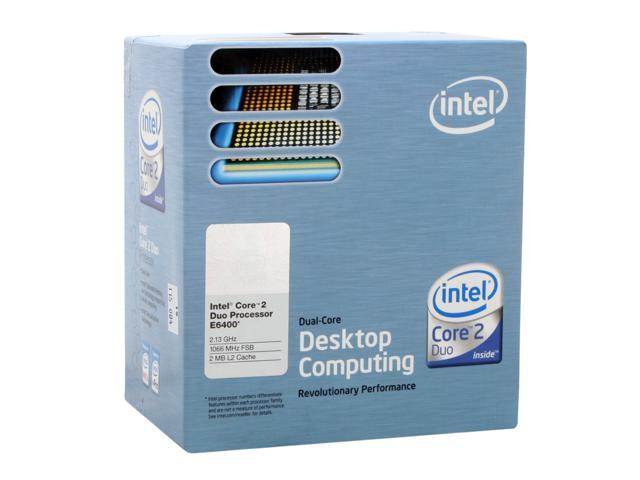 Intel Core 2 Duo E6400 Conroe Dual-Core 2.13 GHz LGA 775 65W BX80557E6400 Processor