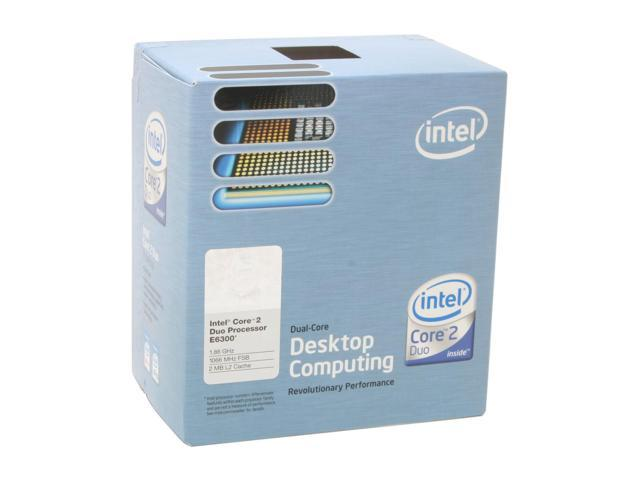 Intel Core 2 Duo E6300 Conroe Dual-Core 1.86 GHz LGA 775 65W BX80557E6300 Processor