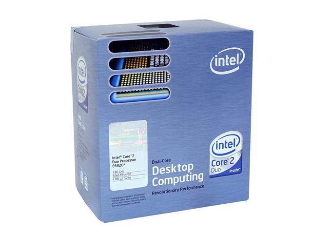 Intel Core 2 Duo E6320 Conroe Dual-Core 1.86 GHz LGA 775 65W BX80557E6320 Processor