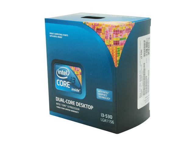 Intel Core i3-530 Clarkdale Dual-Core 2.93 GHz LGA 1156 73W BX80616I3530 Desktop Processor Intel HD Graphics