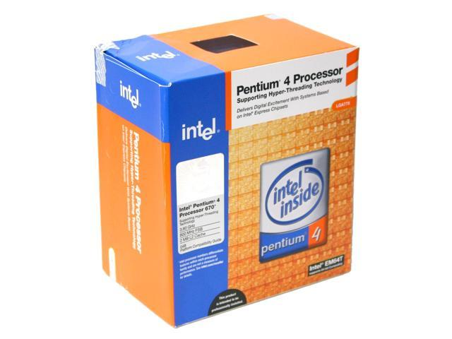 Intel Pentium 4 670 Prescott Single-Core 3.8 GHz LGA 775 BX80547PG3800F Processor