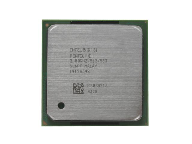 Intel Pentium 4 2.8 Northwood Single-Core 2.8 GHz Socket 478 68.4W RK80532PE072512 Processor