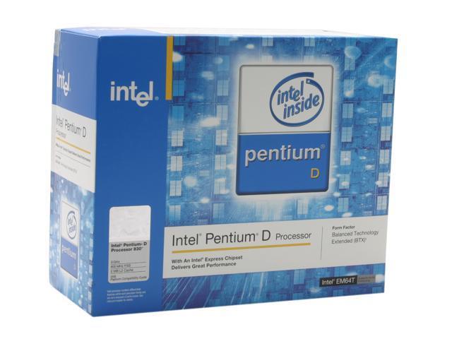 Intel Pentium D 830 3.0 GHz LGA 775 BX80551PG3000FT Dual Core, EM64T, BTX version Processor