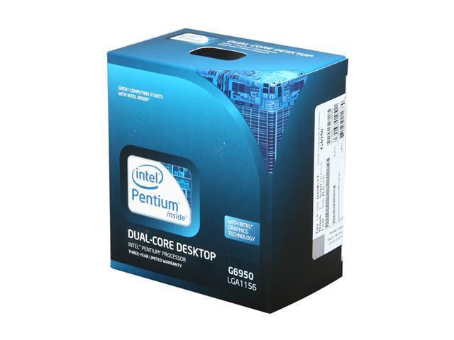 Intel Pentium G6950 Clarkdale Dual-Core 2.8 GHz LGA 1156 73W BX80616G6950 Desktop Processor Intel HD Graphics