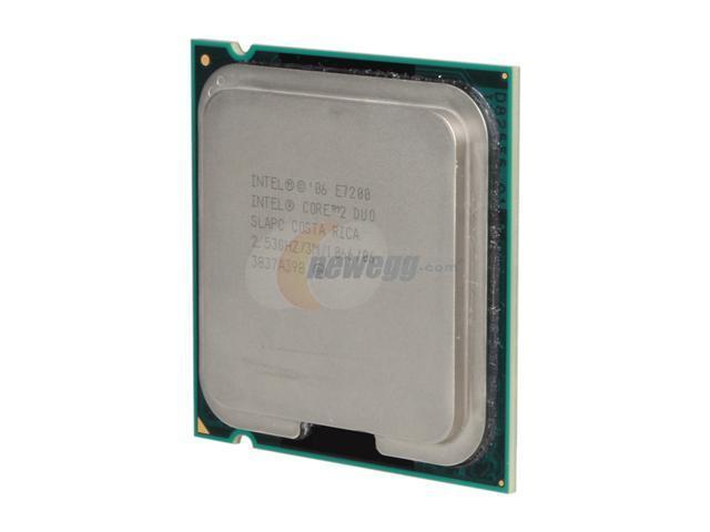 Intel Core 2 Duo E7200 2.53 GHz LGA 775 E7200 (SLAPC) Desktop Processor