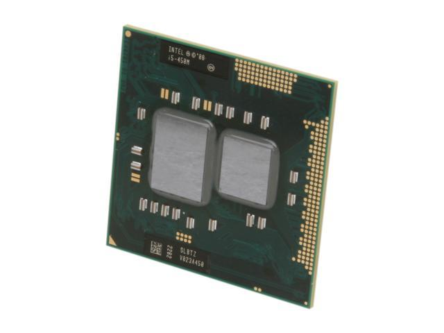Intel Core i5-450M Arrandale 2.4GHz (2.66GHz Turbo) Socket G1 Dual-Core I5 450M (SLBTZ) Mobile Processor