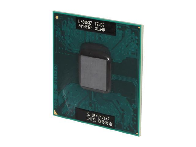 Intel Core 2 Duo T5750 Merom 2.0 GHz Socket P Dual-Core T5750 (SLA4D) Mobile Processor