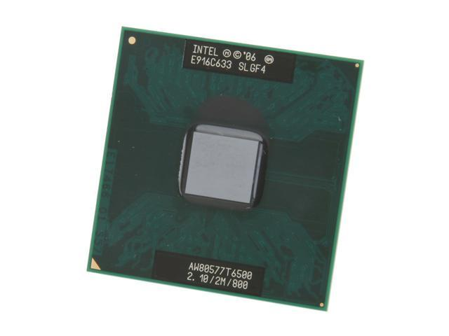 Intel Core 2 Duo T6500 2.1 GHz Socket P 35W T6500 (SLGF4) Mobile Processor