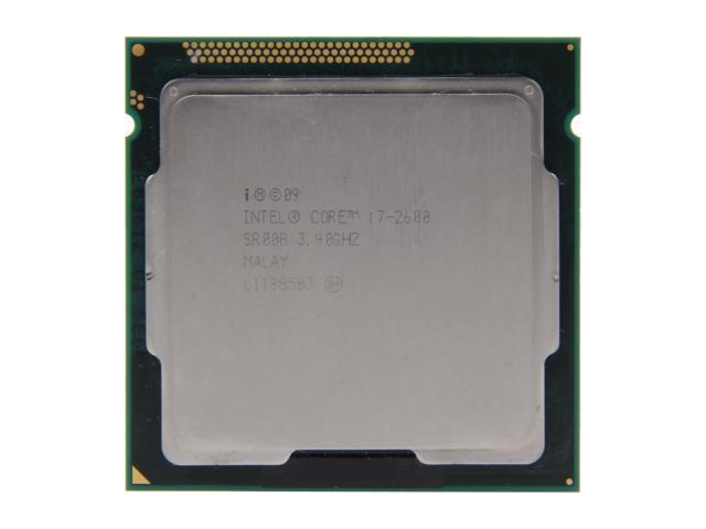Intel Core i7-2600 Sandy Bridge Quad-Core 3.4GHz (3.8GHz Turbo Boost) LGA 1155 95W SR00B Desktop Processor Intel HD Graphics 2000
