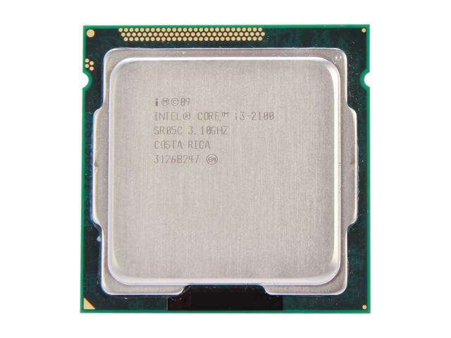 Intel Core i3-2100 Sandy Bridge Dual-Core 3.1 GHz LGA 1155 65W SR05C Desktop Processor Intel HD Graphics 2000