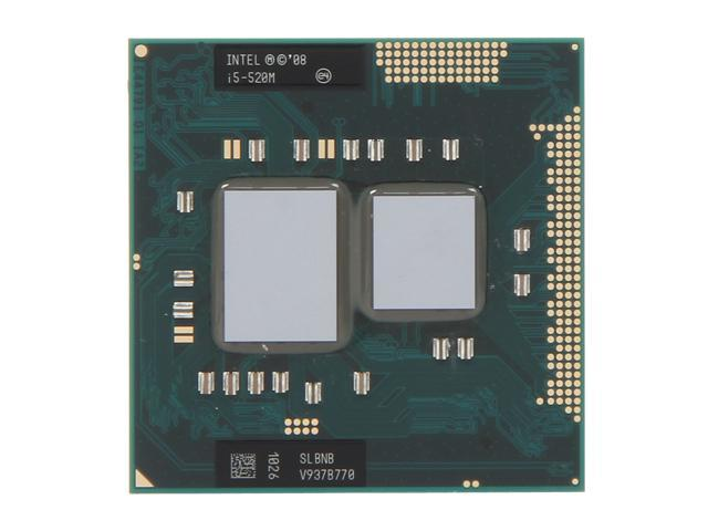 Intel Core i5-520M 2.4GHz (2.93GHz Turbo) Socket G1 35W 594187-002 Mobile Processor