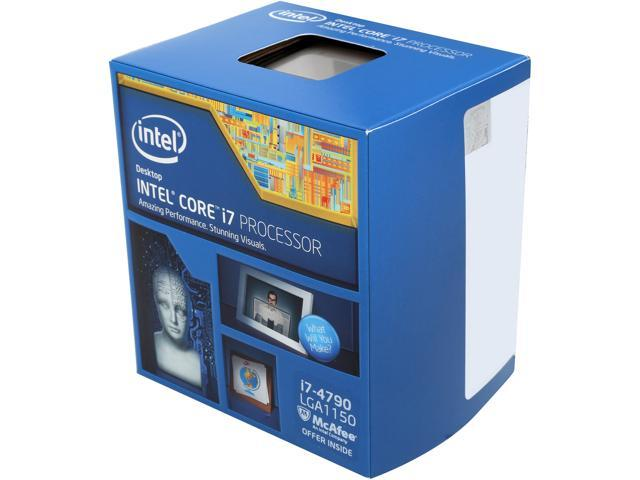 Intel Core i7-4790 Haswell Quad-Core 3.6 GHz LGA 1150 84W BX80646I74790 Desktop Processor Intel HD Graphics 4600