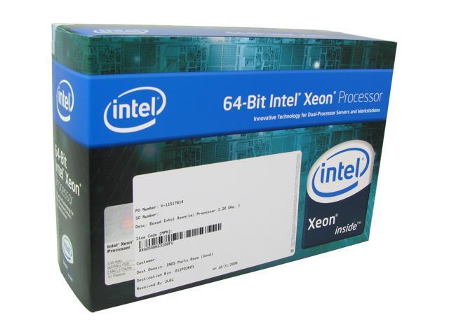 Intel Xeon EM64T 3.2 3.2 GHz Socket 604 110W BX80546KG3200FP 1U Passive Processor