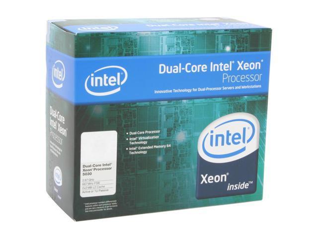 Intel Xeon 5030 2.66 GHz LGA 771 BX805555030A Active or 1U Processor