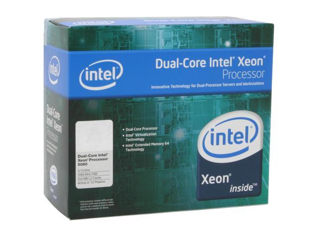 Intel Xeon 5080 3.73 GHz LGA 771 BX805555080A Active or 1U Processor