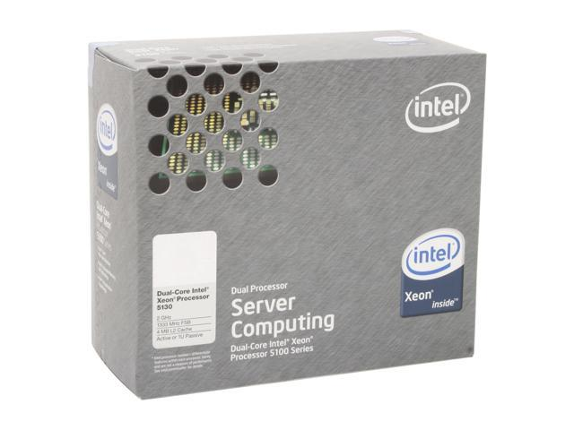 Intel Xeon 5130 Woodcrest 2.0GHz LGA 771 65W Dual-Core Active or 1U Processor Model BX805565130A