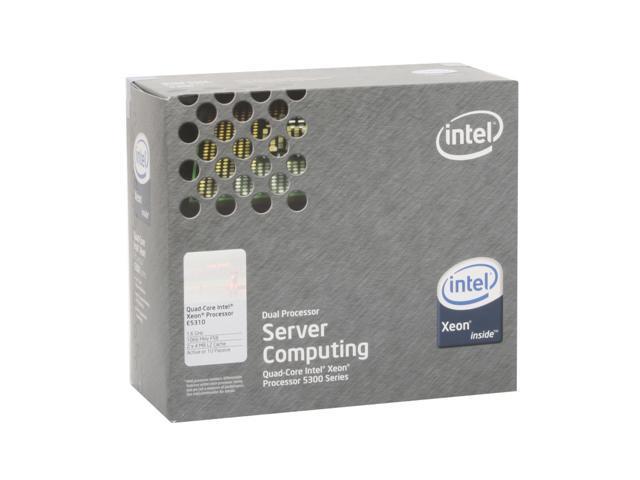 Intel Xeon E5310 Clovertown 1.6 GHz LGA 771 80W BX80563E5310A Active or 1U Processor