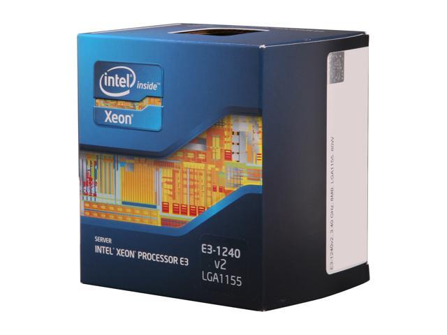 Intel Xeon E3-1240 V2 3.4GHz (3.8GHz Turbo) LGA 1155 69W BX80637E31240V2 Server Processor