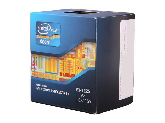 Intel Xeon E3-1225 V2 3.2GHz (3.6GHz Turbo) LGA 1155 77W BX80637E31225V2 Server Processor