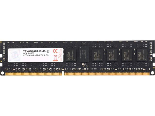 V-Color Server Series 8GB 240-Pin DDR3 SDRAM ECC Unbuffered DDR3 1866 (PC3 14900) Server Memory Model TRV8G18CA13-JS