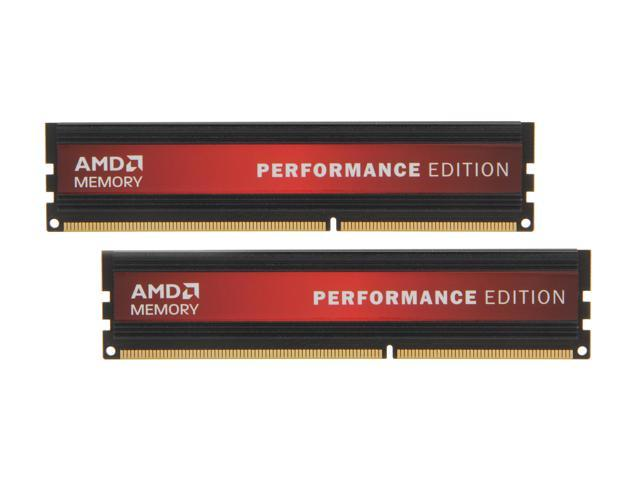 AMD Performance Edition 4GB (2 x 2GB) 240-Pin DDR3 SDRAM DDR3 1600 (PC3 12800) Desktop Memory Model AP34G1608U1K