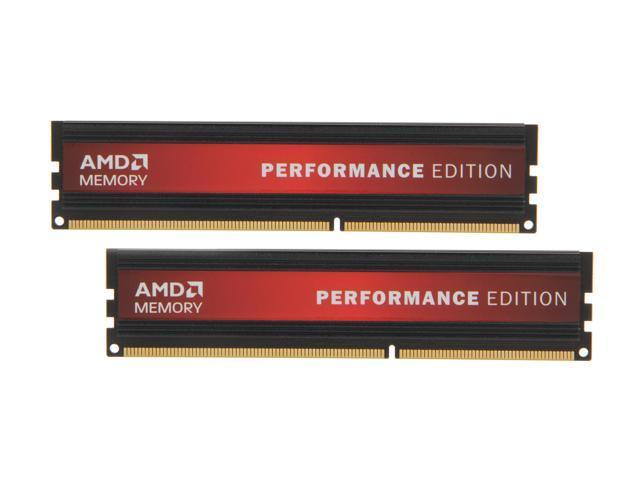 AMD Performance Edition 8GB (2 x 4GB) 240-Pin DDR3 SDRAM DDR3 1600 (PC3 12800) Desktop Memory Model AP38G1608U2K