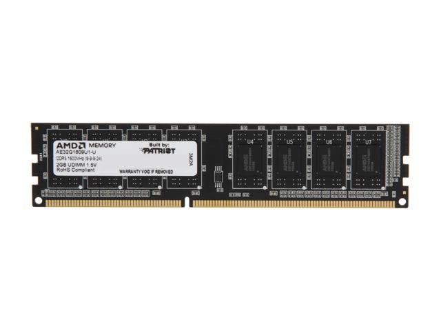 AMD Entertainment Edition 2GB 240-Pin DDR3 SDRAM DDR3 1600 (PC3 12800) Desktop Memory Model AE32G1609U1-U