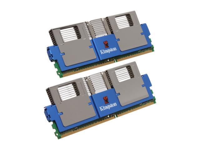 HyperX 2GB (2 x 1GB) ECC Fully Buffered DDR2 800 (PC2 6400) Dual Channel Kit Server Memory Model KHX6400F2LLK2/2G