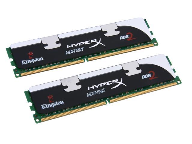 HyperX 4GB (2 x 2GB) 240-Pin DDR2 SDRAM DDR2 1066 (PC2 8500) Dual Channel Kit Desktop Memory Model KHX8500AD2BK2/4GR