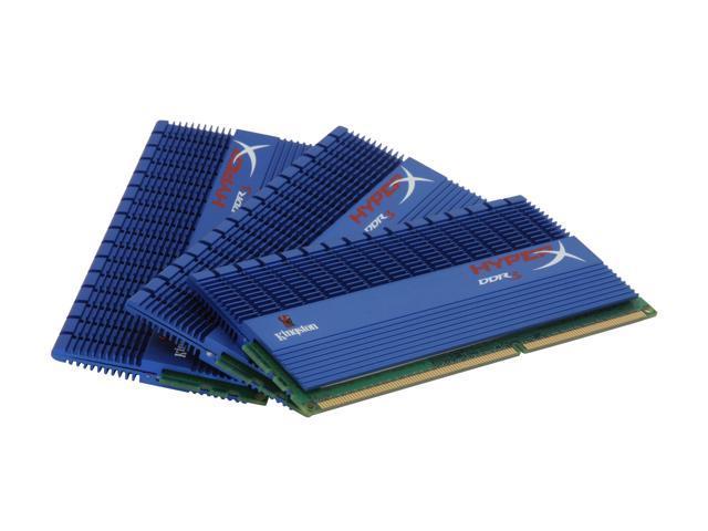 HyperX T1 Series 3GB (3 x 1GB) 240-Pin DDR3 SDRAM DDR3 1800 (PC3 14400) Triple Channel Kit Desktop Memory Model KHX14400D3T1K3/3GXR