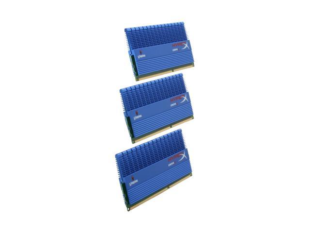 HyperX T1 Series 3GB (3 x 1GB) 240-Pin DDR3 SDRAM DDR3 2000 (PC3 16000) Triple Channel Kit Desktop Memory Model KHX16000D3T1K3/3GX